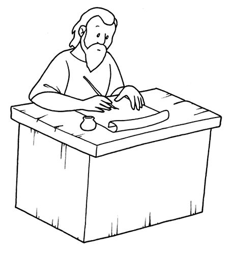 Apostle Paul Coloring Page Bible Paul Acts His Letters