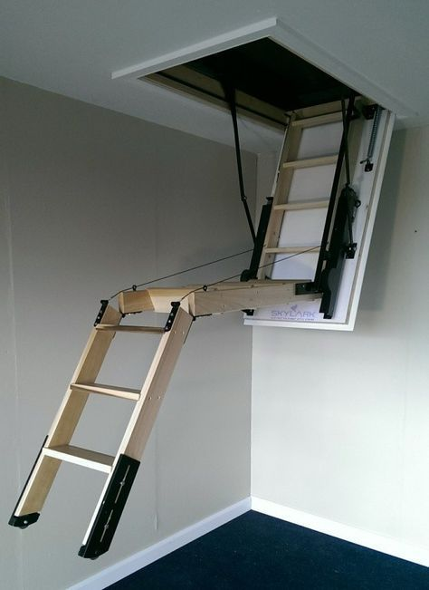Inspiring Automatic Attic Stairs 9 Electric Attic Stairs Ladder Attic Automatic Electric Inspiring In 2020 Attic Stairs Pull Down Attic Renovation Attic Flooring