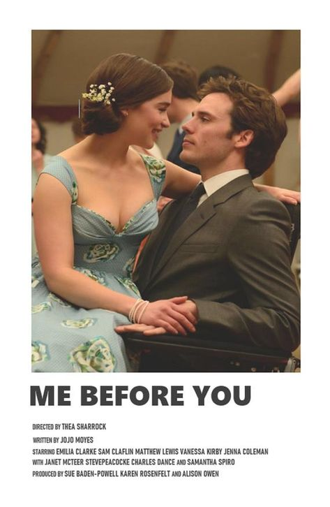 Me Before You minimal A6 movie poster
