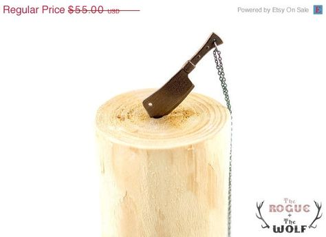 SUMMER SALE -- Bronze Cleaver Necklace
