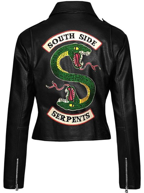 Details about riverdale southside serpents gang jacket jughead jones cole sprouse biker jacket Black Leather Biker Jacket, Faux Leather Jackets, Motorcycle Leather, Motorcycle Jackets, Motorcycle Gear, Riverdale Shirts, Riverdale Fashion, Riverdale Cole Sprouse, Jugend Mode Outfits