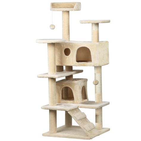 b41394ee0f1f Yaheetech 52' Cat Tree Tower Condo Scratcher Furniture Kitten House Play  Hammock ** Details can be found : Cat Tree
