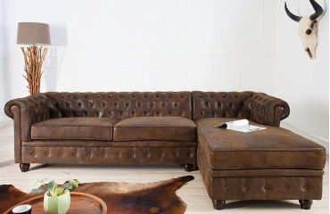 Garnitura Chesterfield Antik Corner Living Room Sofa