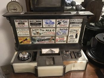 Craigslist Find 1898 Hotel Albany Advertising Inkstand Collectors Weekly Albany Hotel Glass Tile