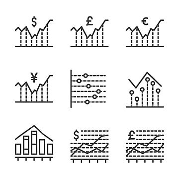 Chart And Analytic Icon Set Outline Include Analytic Chart Graph Info Graphic Statistic Finance Report Info Icons Report Icons Finance Icons Png And Vector W Finance Icons Graphic Design Logo Icon