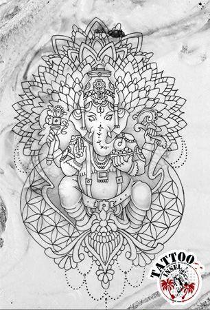 Ganesha Mandala Tattoo Tattoo Insel Illustrator Anfertigen