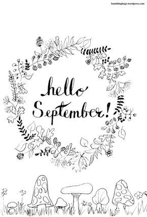 Printables Bullet Journal September Hello September Planner Bullet Journal