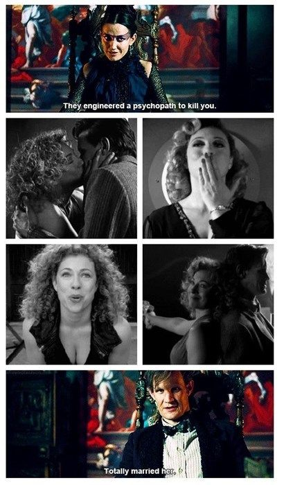Totally married her by ScornedFlames on DeviantArt River Song: a psychopath engineered to kill the Doctor… who totally married her. // doctor who; Geronimo, Image Youtube, Serie Doctor, Hello Sweetie, Fandoms, Don't Blink, Eleventh Doctor, Torchwood, Film Serie