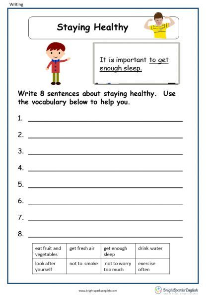 Worksheets Staying Healthy How To Stay Healthy Worksheets Free Kindergarten Worksheets Health worksheets 4th grade