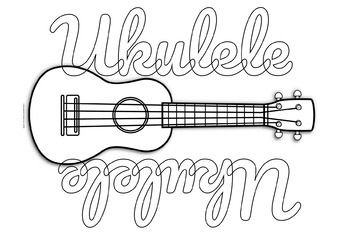 Free Ukulele Coloring Page Ukulele Ukulele Lesson Guitar Lessons Fingerpicking