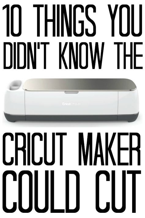 10 Things You Didn't Know The Cricut Maker Could Cut - you can cut so much with this machine! You are in the right place about Cricut svg Here we offer you the most beautiful p Cricut Craft Room, Cricut Vinyl, Project Life, Cricut Blades, Cricket Machine, Cricut Help, Country Chic Cottage, Country Living, Cricut Explore Air