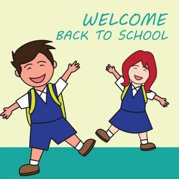 Welcome Back To School Cartoon Concept Vector Illustration School Cartoon School Welcome Back To School