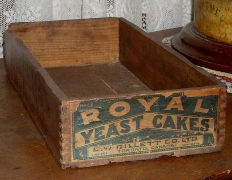 Royal Yeast Cakes Wooden Crate Box C 1900 Wooden Crate Boxes Wooden Crate Crates