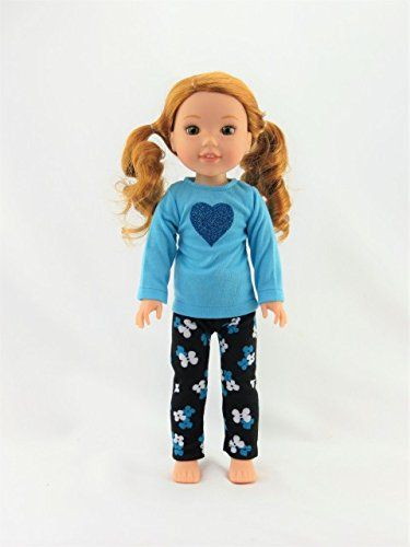 """Top Vest Denim Jeans /& Boots Set For 14.5/"""" Wellie Wishers American Girl"""