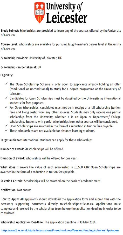 MBA Scholarships for Pakistani Students in UK- Study in UK - scholarship form