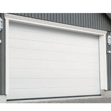 Porte Sectionnelle De Garage Rainuree Blanche RAL Emf - Porte garage sectionnelle sur mesure