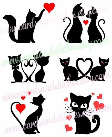 Cats SVG Valentine Cats SVG Cat Lover's SVG by cardsandstitches
