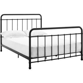 Dorel Home Dhp Jenny Lind Scroll Twin Metal Bed White Walmart