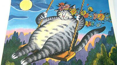 2004 Kliban Cat Calendar 12 Months Of Colored Feline Pictures 13 X