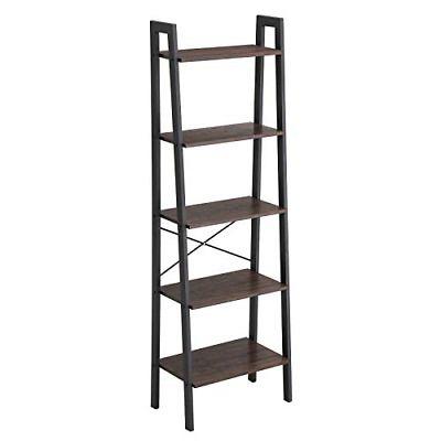 Vasagle Industrial Ladder Shelf 5 Tier Bookcase Storage Unit With