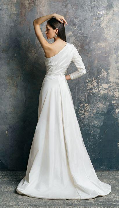 Ariadna Wedding Dress From 100 Silk By Victoriaspirina Wedding Dresses Taffeta Modern Wedding Dress Etsy Wedding Dress