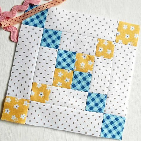 Patchsmith Sampler Blocks - On this page you will find every block from The Patchsmith& Sampler Quilt Blocks book. Sampler Quilts, Scrappy Quilts, Easy Quilts, Mini Quilts, Patchwork Quilting, Quilt Block Patterns, Pattern Blocks, Quilt Blocks, Quilt Kits