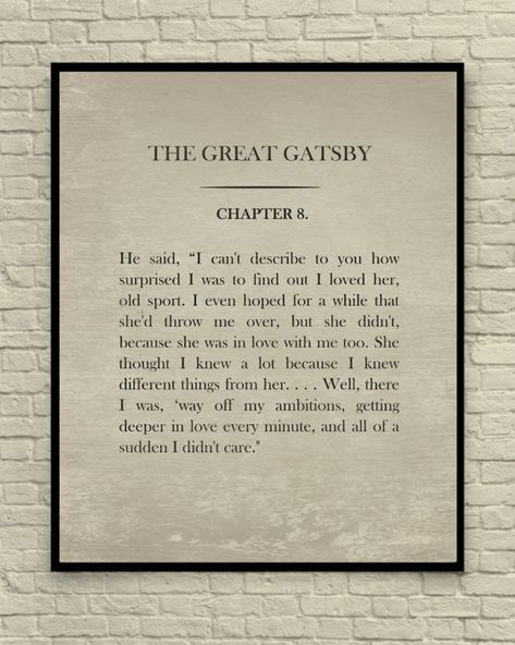 Custom Book Page, The Great Gatsby, Book Page Art Print, Custom Print, Vintage Book Page, Classic Li