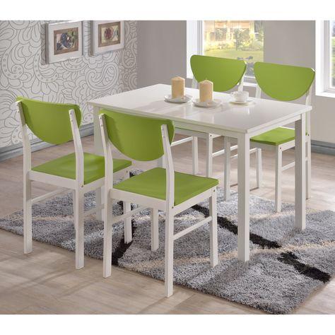 K B Furniture Rutland White Dining Chair Set Of 4 White
