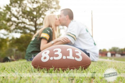 Packers Engagement. Engagement.  Football Engagement. St Louis Wedding Photographer
