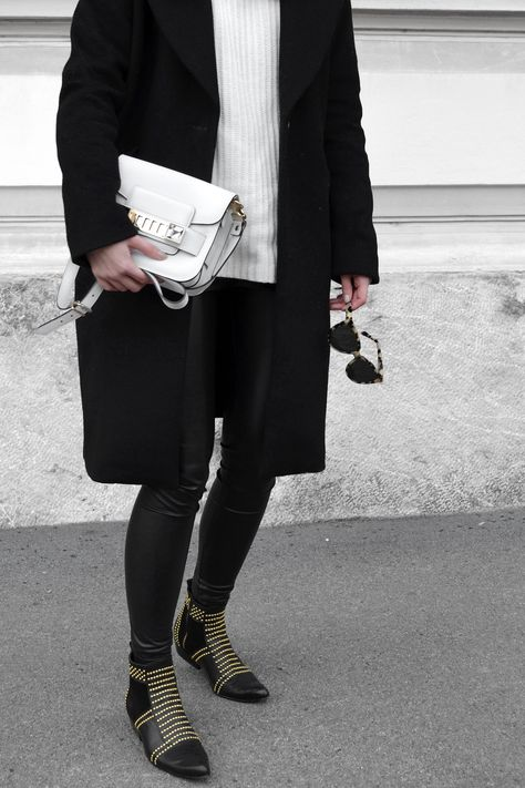 official photos 6e1f8 36c12 Proenza Schouler PS11 Tiny Bag, Anine Bing Charlie Boots, Prism London  Moscow Sunnies,
