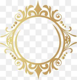 Gold Frame Hand Painted Golden Frame Png And Vector With Transparent Background For Free Download Gold Design Frame Gold Frame