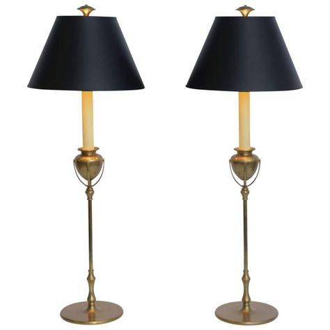 bd8a38df0e851 tiffany style large chapman brass candlestick table lamps at brushed brass  vase table lamp by regency hillcom rh petite candlestick table lamp 3d  model ...
