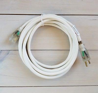 15 12 Gauge White Indoor Outdoor Extension Cord With Lighted End Outdoor Extension Cord Extension Cord Indoor Outdoor