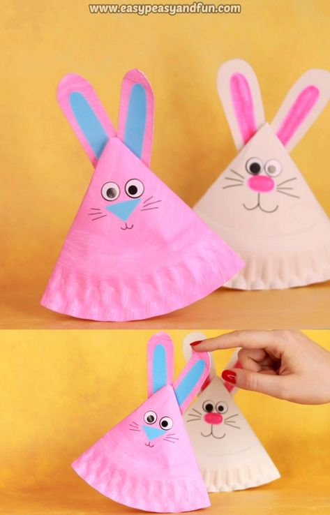 If you are thinking of making a cute Easter decoration together with your kids, give this rocking paper plate bunny a go.