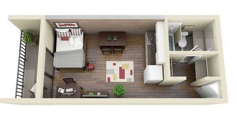 Image Result For 250 Sq Ft Apartment Studio Apartment Floor