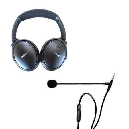 Clearmic Noise Cancelling Boom Microphone For Bose Qc35 Bose Headphones Wireless Noise Cancelling Noise Cancelling Headset