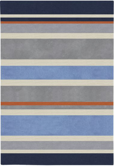 3 X 5 Midnight Blue And Dove Gray Striped Rectangular Area Throw Rug 28453412 In 2020 Striped Rug Hand Tufted Rugs Kids Area Rugs