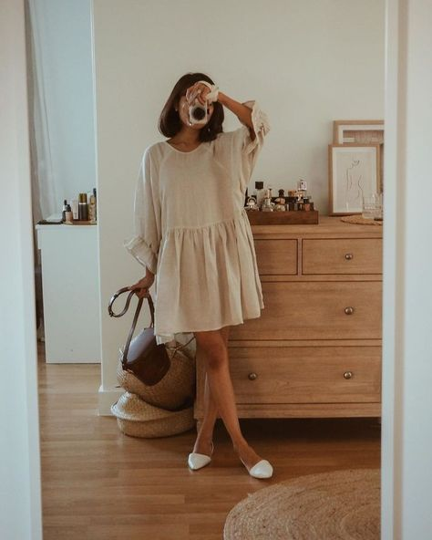Edie Smock Dress - Natural - Linen Blend - Bird & Kite Source by lilliecontessa dress outfit Look Fashion, Fashion Outfits, Fashion Tips, Fashion Quotes, High Fashion, Modesty Fashion, Fashion Mask, 2000s Fashion, Fashion Images