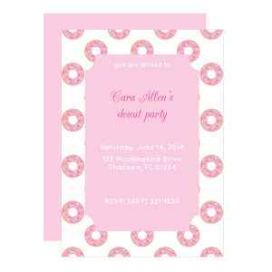 List Of Pinterest Donut Birthday Party Invitations Free Printable