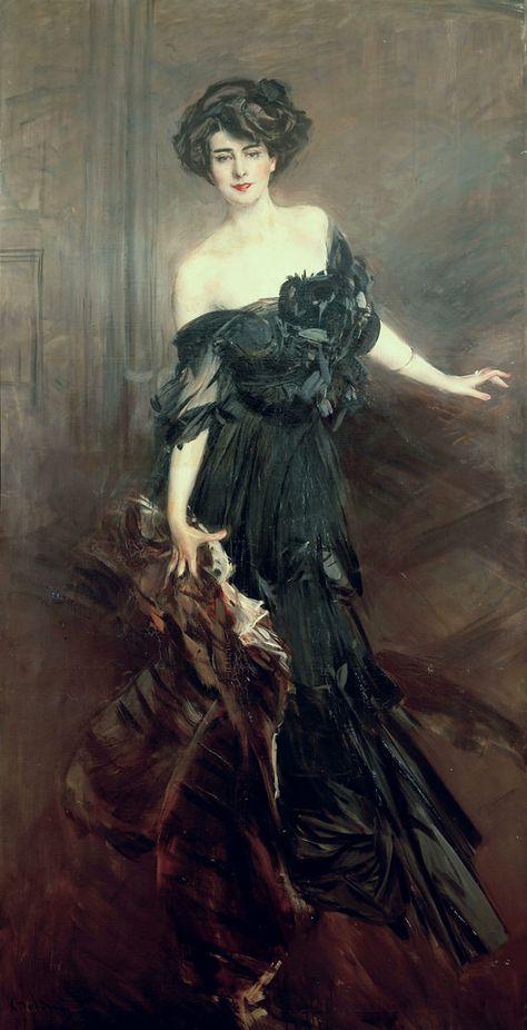 """Giovanni Boldini, Mademoiselle de Nemidoff"" by the incomparable John Singer Sargent. Giovanni Boldini, John Singer Sargent, Gibson Girl, Woman Painting, Oeuvre D'art, American Artists, Love Art, Art History, Art Photography"
