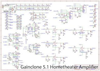 5 1 Home Theater Power Amplifier With Gainclone Lm1875 Lm3886 Power Amplifiers Amplifier Hifi Amplifier