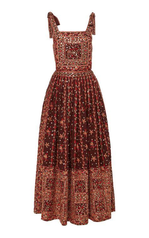 Nasya Embroidered Linen-Cotton Blend Maxi Dress by Ulla Johnson Indian Fashion, Korean Fashion, Boho Fashion, High Fashion, Fashion Outfits, Fashion Design, Modest Fashion, Pretty Outfits, Pretty Dresses