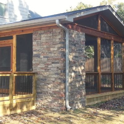 Cedar Porch With Cathedral Ceiling And Gas Fireplace Backyard Fireplace House With Porch Porch Fireplace