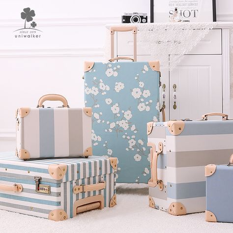 New Fashion Fancy Design Durable Al Frame Airport Anti Theft Pink Pu Hard Case Travel Trolley Luggage Suitcase