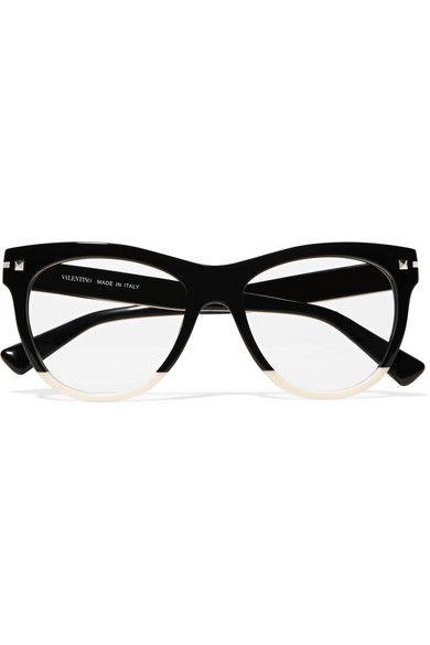 eedbb22d68f Valentino | Valentino Garavani two-tone acetate cat-eye optical glasses |  NET-A-PORTER.COM