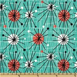 Michael Miller Mid-Century Modern Atomic Turquoise....everything in my house could be covered in this fabric. it's pretty much the best print and colors ever. ever. ever.