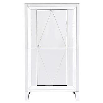 Amia Vanity Mirrored Bar Cabinet Modern Home Bar Bar Cabinet