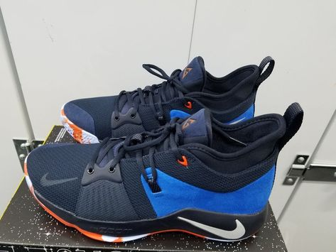 1e179d7f7217 ... reduced nike paul george pg 2 home dark obsidian navy kinetic green  size 12 fashion clothing