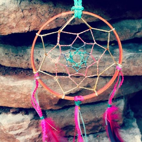 Summer Dreamcatcher: 23 Cool Summer Crafts | DIY Projects  Recipes | This summer dreamcatcher is one of our favorite pretty summer craft ideas | DIYReady.com