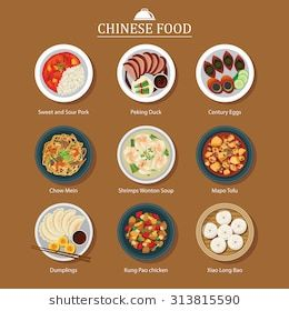 Set Of Chinese Food Chinese Food Food Doodles Food Artwork